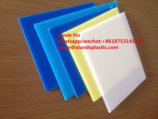 White 4mm Coroplast Corrugated Plastic Sheets Printing pictures & photos