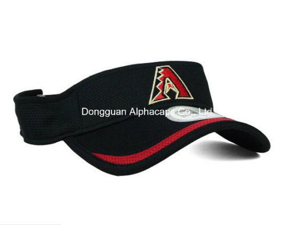 582f760f2fa China Piping Brim Sun Visor Hat with Red Embroidery - China Visor ...