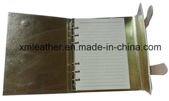 A5 Fashion Women Crocodile Leather Statonery Agenda pictures & photos