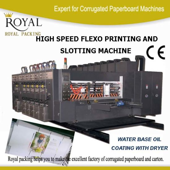 China High Speed Four Colors Flexo Printer Machine with Water Base