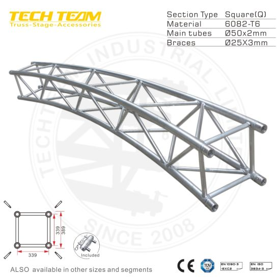 Cheap Factory Supply 389X389mm Aluminum Truss Price for Lighting