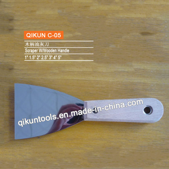C-07 Construction Decoration Paint Hardware Hand Tools Wooden Handle Edged Blade Scraper pictures & photos