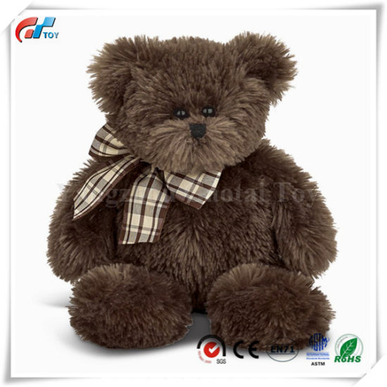 "Chocolate Brown 16"" Plush Stuffed Animal Teddy Bear"