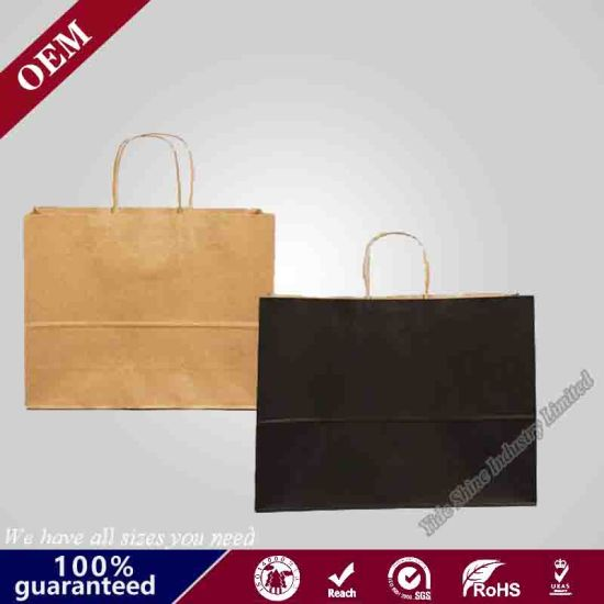 "Incredible Packaging - 16"" X 6"" X 12"" Kraft Paper Bags with Handles for Shopping, Retail and Merchandise. Strong and Reusable"
