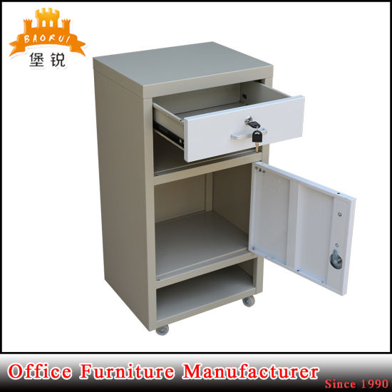 Hospital Medical Stainless Steel Top and Base Bedside Locker Jas-109 pictures & photos