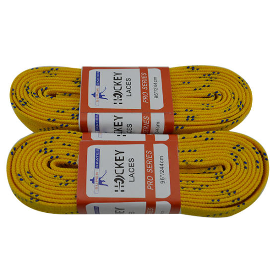 Rec. Grade Wax Material Hockey Shoelace pictures & photos