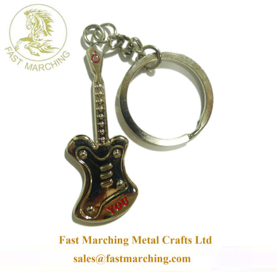 Personalized No Minimum Plated Engraved 3D Die Casting Keychains