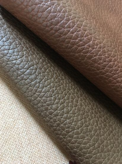 Classic Grain Soft PU Faux Synthetic Leather for Sofa/Chair/Furniture- Kom