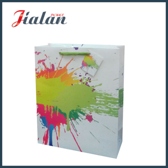 Every Day Colorful Paper Printed Shopping Carrier Gift Paper Bag