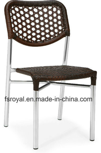 Patio PE Wicker Side Chair Outdoor Restaurant Ghost Louis Wedding Party Chair