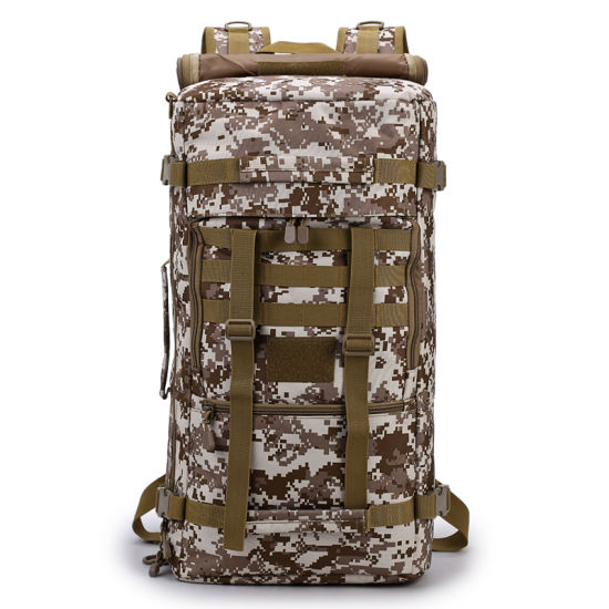 Portable Khaki Camo Military Army Tactical Airsoft Bag Backpack