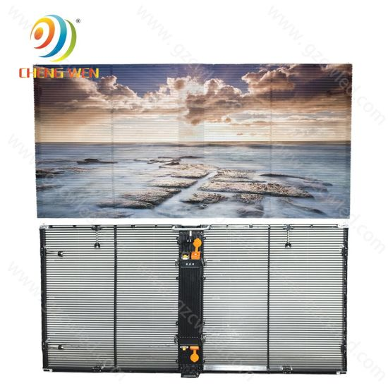 P3.91 Module LED Indoor Screen Transparent Glass for Shop Market Video Guide Display