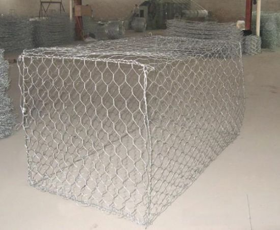 Erosion Protection Low Carbon Wire Hexagonal Mesh Gabion for River Wall