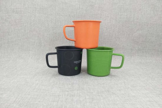 Biodegradable Bamboo Fiber Cup with Handle, Bamboo Coffee Cup