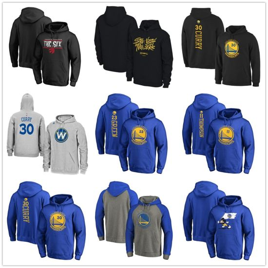 Klay Thompson Golden State Warriors Stacked Name & Number Pullover Hoodie