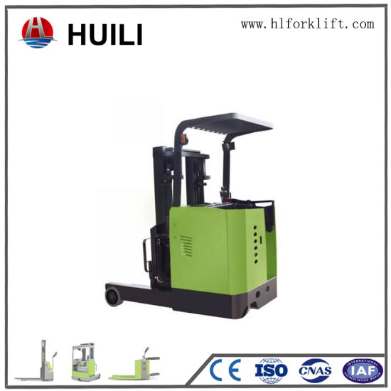 Full-Electric 48V AC Motor Curtis Controller Standing Type Electric Reach Truck