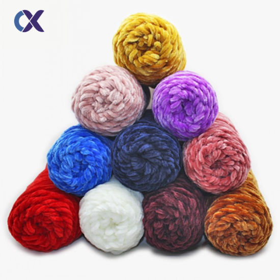 Colorful Chunky Chenille Yarn for Hand Knitting