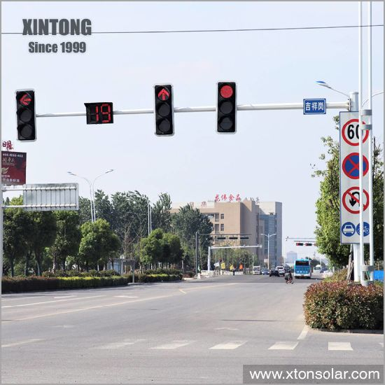 10m Electric LED Traffic Light Steel Galvanized Pipe Pole Post