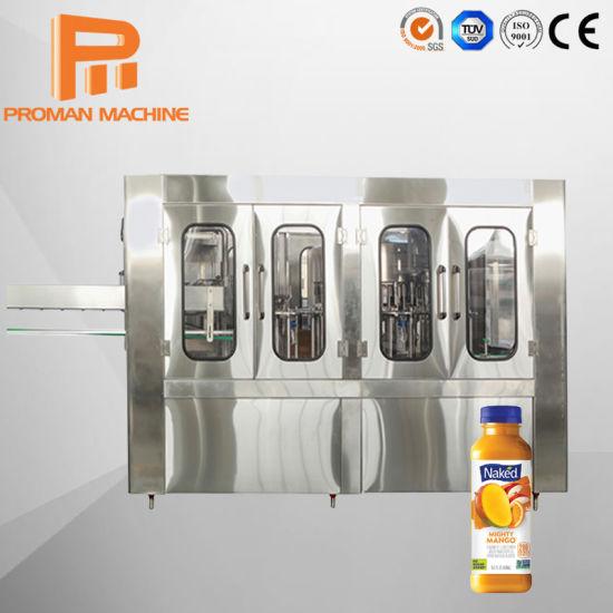 Automatic Mitsubishi Brand PLC Control Pet Bottle Hot Juice Filling Production Line