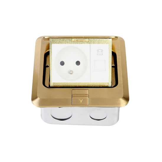 Pop up Type Floor Outlet Box with Fr Socket Telephone Data Ce Certificate DCT-628/GB
