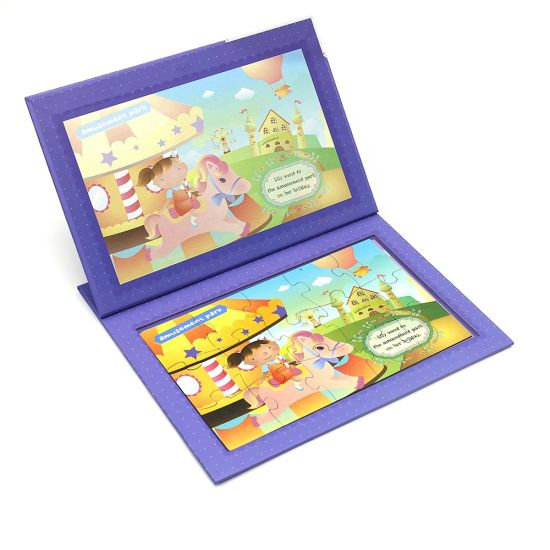 Colorful Design Double Side Printing Travel Game Double Side Magnetic Puzzle Set pictures & photos