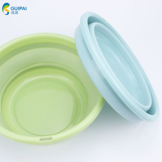 Portable Plastic Collapsible Folding Washing Basin Bowl for Children Baby