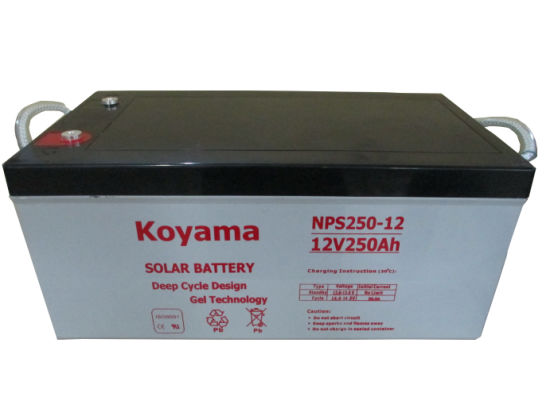 12V 250ah Electric Power Accumulator Battery Solar Cells Solar Battery pictures & photos