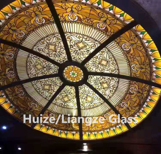 Decorative Tiffany Stained Glass Dome Skylight for Ceiling Roof pictures & photos