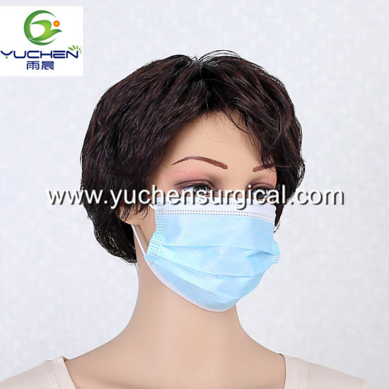 Manufacturer Disposable 3ply Face Mask High Density Fliter Layer Anti Virus for Health