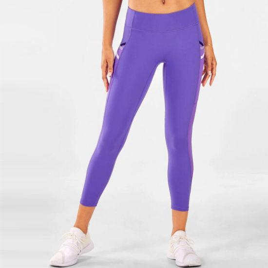 China Manufacture Supply Womens Yofa Pants Leggings with Pockets