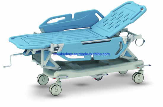 Rh-Z004 Hospital Luxrious Hydraulic Rise and Fall Stretcher Cart
