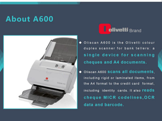 All in One Inkjet Printer Bank Teller Document Micr Cheque Scanner (A600F)