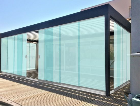 Elegant Aluminum Frameless Sliding Glass Door for Terrace pictures & photos