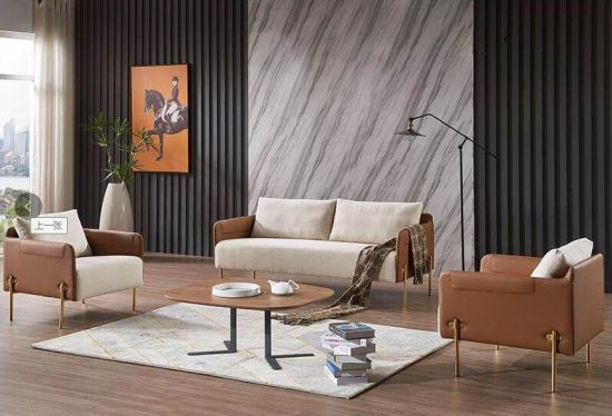 China Black Modern Sectional Leather Couch Luxury Furniture Office Sofa  (FECE360)