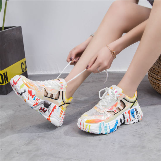 China Colorful Sneakers Women Shoes