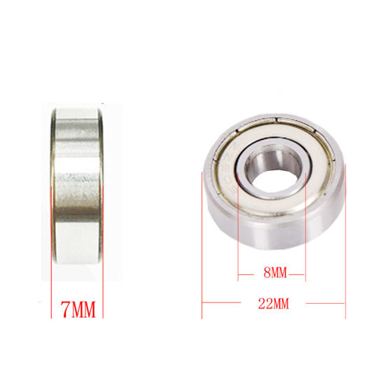 608 2RS Ball Bearing 8X22X7 mm Deep Groove Steel Sealed 608RS Z3V3 608-2RS 608rs
