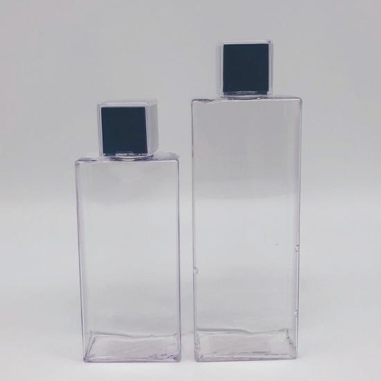 Hot Sales Simple Design Eco Friendly PETG Square Shampoo Bottle
