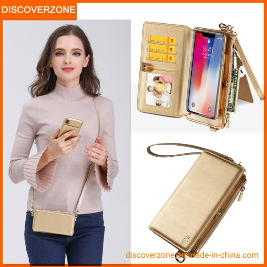 New Arrived Girls Shoulder Bags Mobile Phone Wallet Cases for iPhone Xs Max
