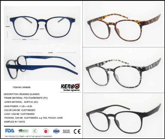 2019 New Fashion Round Reading Glasses with Magnifying Lens Low Price, Kr9058