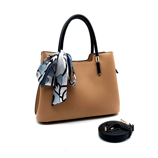 OEM New Model Fashion PU Leather Lady Tote Handbag pictures & photos
