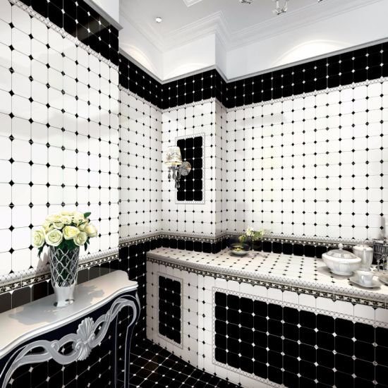 China Black And White Color Wall Tile With Good Export Service China Wall Tile Ceramic Tile