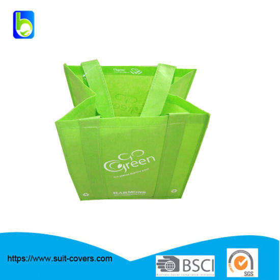 High Quality Promotiona Advertising Green Non Woven Shopping Bag pictures & photos