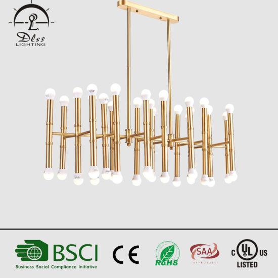 European Creative Gold Iron Indoor Lighting Pendant Lamp Chandelier