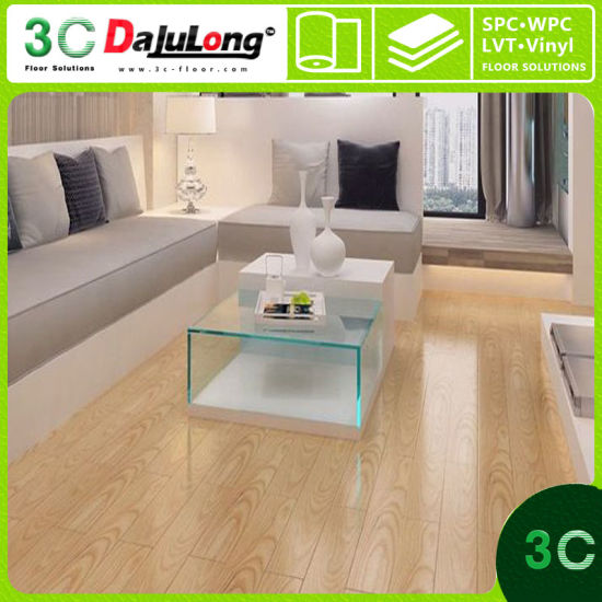 Wooden Pvc Interlocking Vinyl Luxury Plank Floor Covering Made In