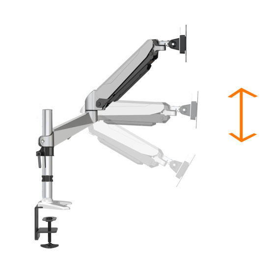 Articulating Monitor Arm w// Gas Spring