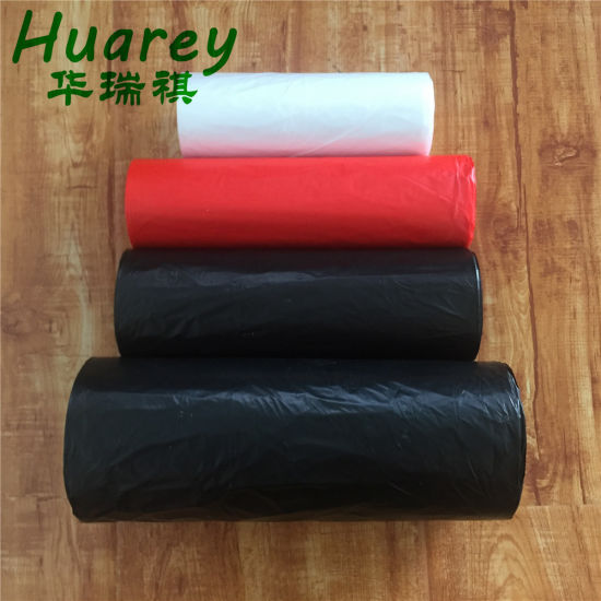 HDPE T-Shirt Plastic Garbage Handle Tie Disposable Trash Bag pictures & photos