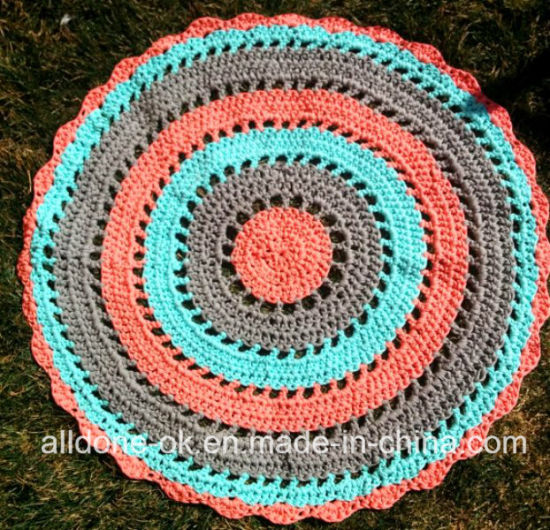 Hand Knitting T-Shirt Yarn Crochet Rug Blanket Home Decoration Carpet pictures & photos