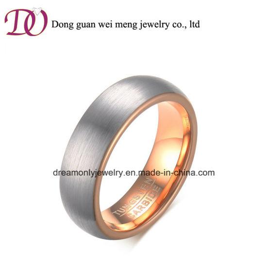 China Ebay Hot New Rose Gold Jewelry Tungsten Ring China