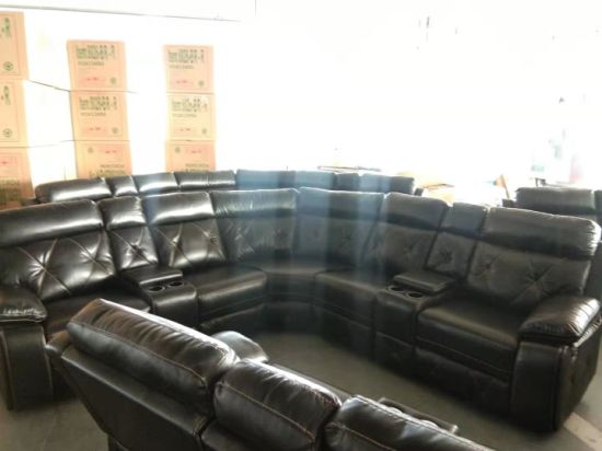Fine China Leather Gel Sectional Reclining Sofa With Console For Andrewgaddart Wooden Chair Designs For Living Room Andrewgaddartcom