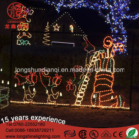led animated elf and stocking rope motif lights for outdoor christmas decoration - Elf Outdoor Christmas Decorations